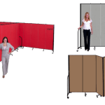 Freestanding portable partitions