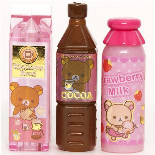 cute Rilakkuma bear pencil cap by San-X bottle