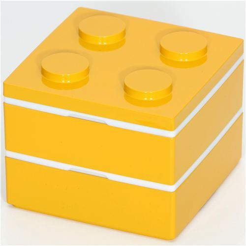 funny yellow brick Bento Box from Japan