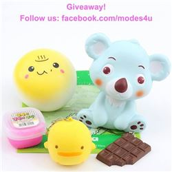 modes4u Kawaii Squishy Giveaway, ends July 31st, 2017
