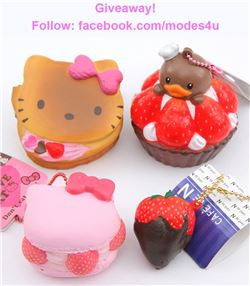 modes4u Dessert Squishies Giveaway, ends February 26th, 2018