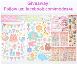 modes4u Adorable Stationery Giveaway, ends March 5h, 2018