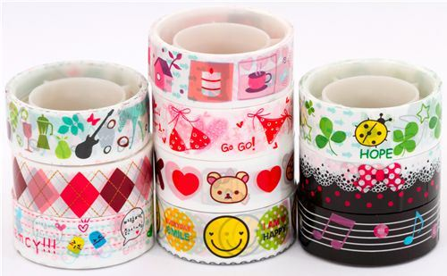 kawaii Deco Tape adhesive tape 10pcs Set 29