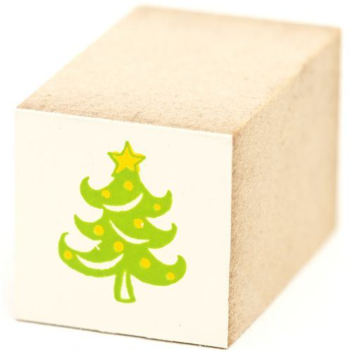 cute small Christmas tree wooden stamp Christmas