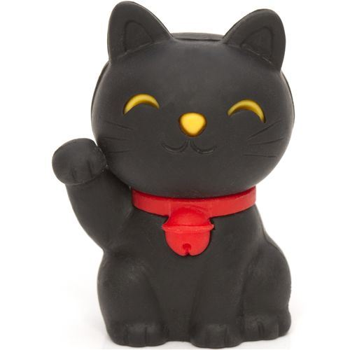 black Lucky Cat eraser Maneki Neko from Japan