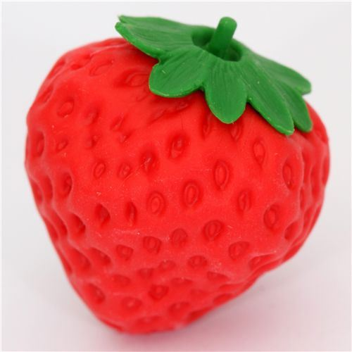 red strawberry eraser from Japan by Iwako