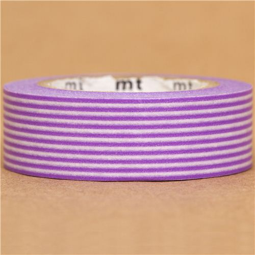 mt Washi Masking Tape deco tape with purple stripes