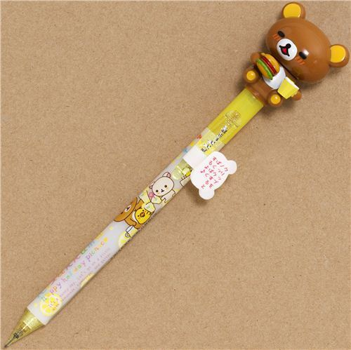 Rilakkuma picnic mechanical pencil with movable figure