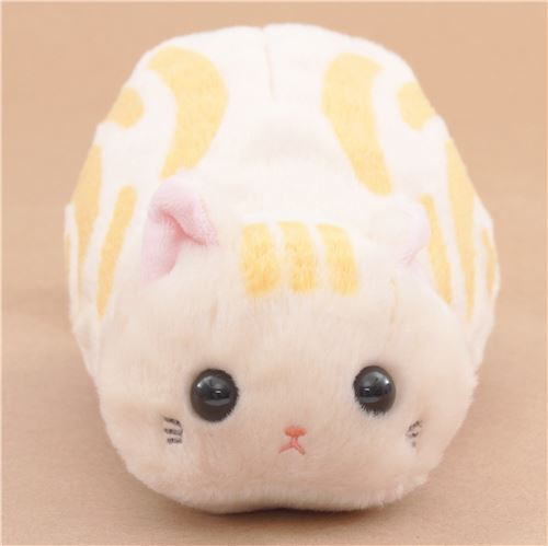 funny beige orange cat tsuchineko pouch plush toy from Japan
