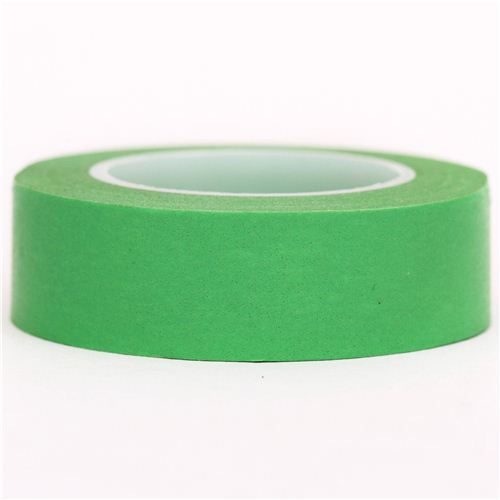 solid Paris green Washi Masking Tape deco tape