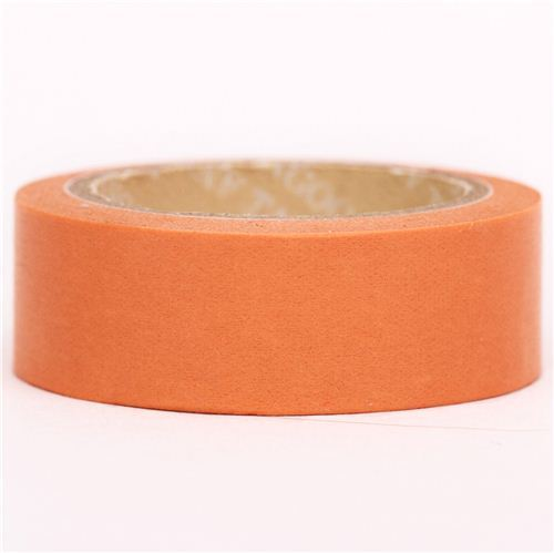 solid apricot orange Washi Masking Tape deco tape