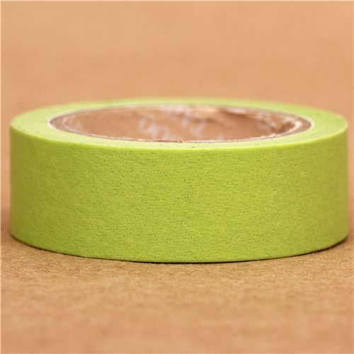 solid lime green Washi Masking Tape deco tape