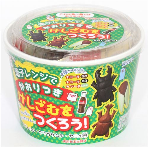funny DIY eraser making kit Insects from Japan