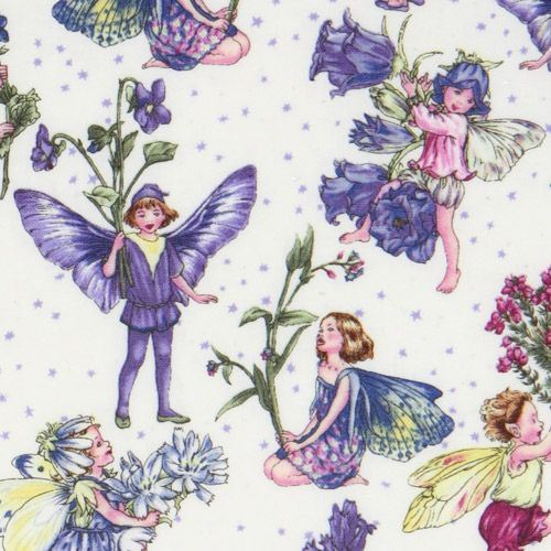Michael Miller fabric Petite Fairies flower fairy