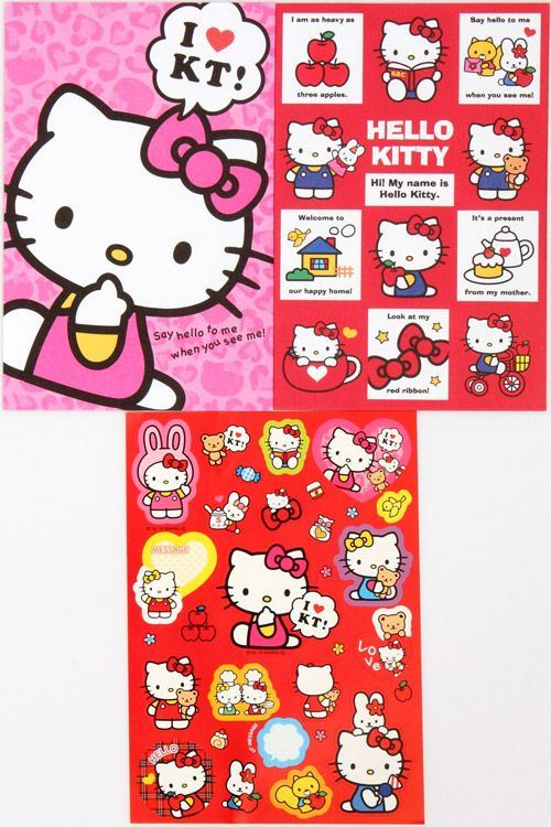 Hello Kitty Letter Set with sticker from Japan