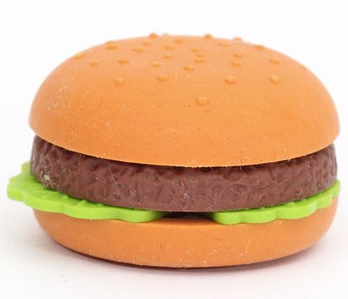 hamburger eraser from Japan by Iwako