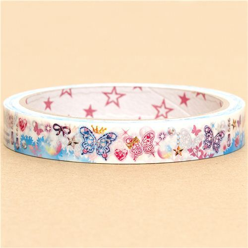 cute Sticky Tape with butterflies glitter jewels