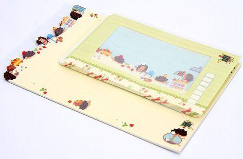 cute hedgehog Letter Set from San-X Japan kawaii