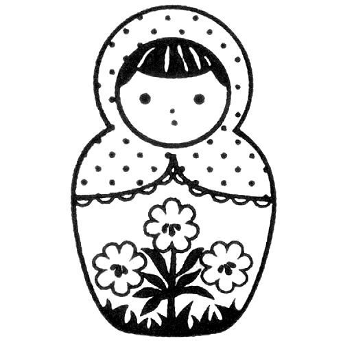 cute matryoshka stamp doll daisy no13