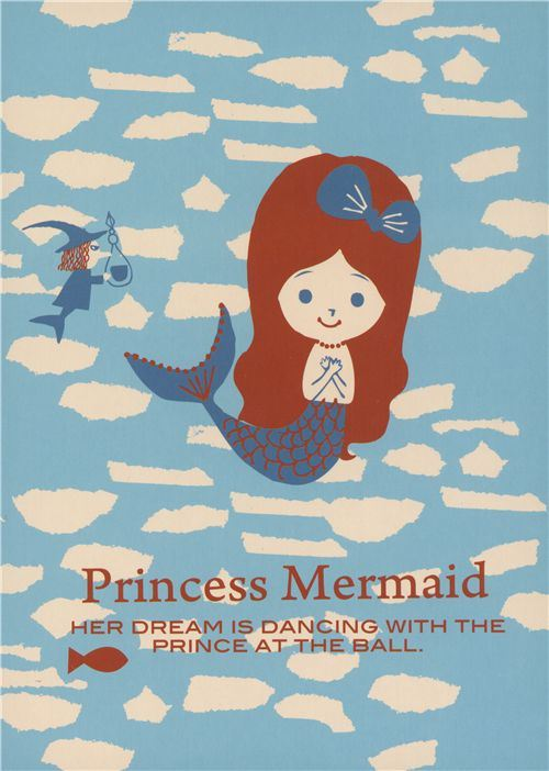 kawaii Shinzi Katoh postcard mermaid