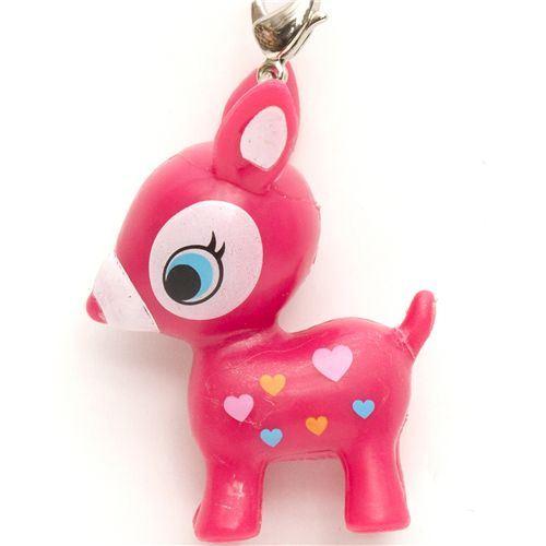 cute pink Bambi deer phone strap