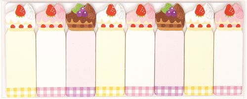 colourful bookmark stickers cake pie Post-it Japan