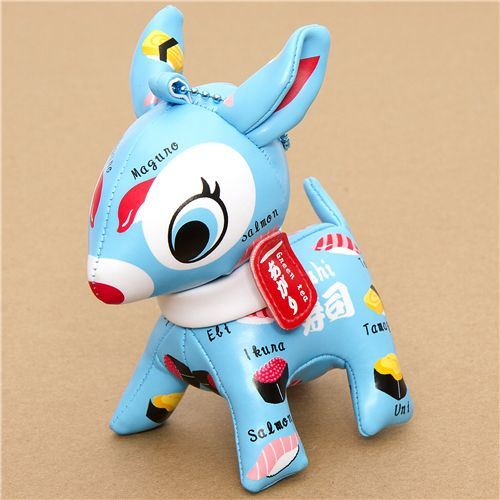 cute big blue deer cellphone charm sushi