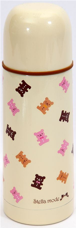 cute Thermo bottle with teddy bears Japan kawaii