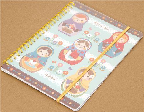 matryoshka ring binder notebook from Japan