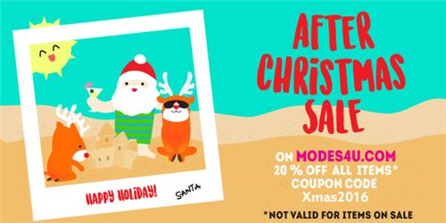 After Christmas Sale! Get 20% off items at modeS4u!