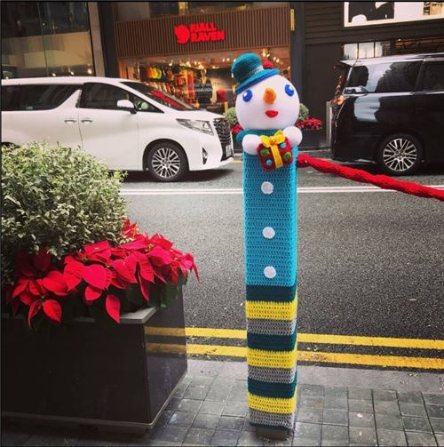 What an adorable snowman! All pictures in this blog post are courtesy of the All About Hong Kong Facebook page.
