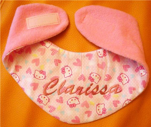 Baby bib made with Hello Kitty fabric 1