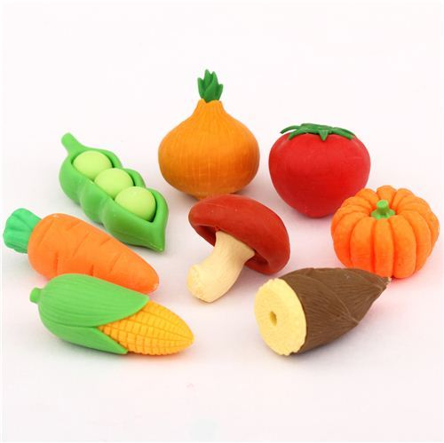 Iwako erasers vegetables set 8 pieces from Japan