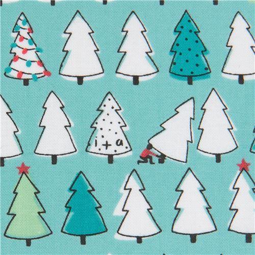 turquoise fabric small Christmas tree Ink & Arrow
