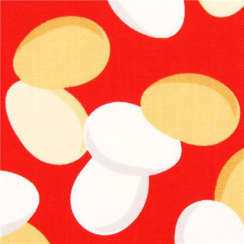 red chicken egg food fabric by Robert Kaufman USA