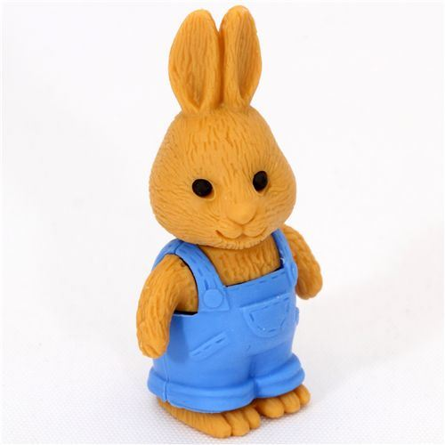 rabbit with overall eraser from Japan by Iwako