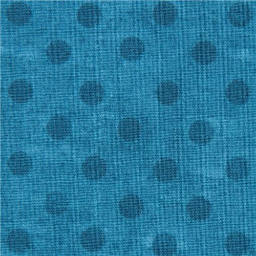 blue fabric polka dot Gorjuss Quilting Treasures