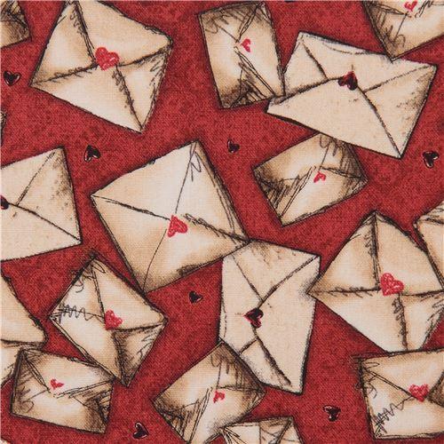 red fabric letter envelope Gorjuss Quilting Treasures