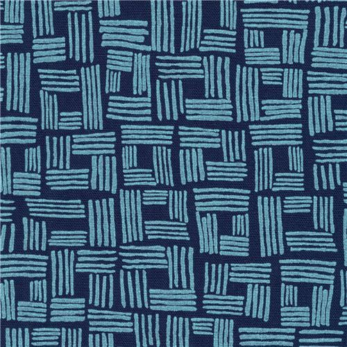 Robert Kaufman navy blue shape fabric