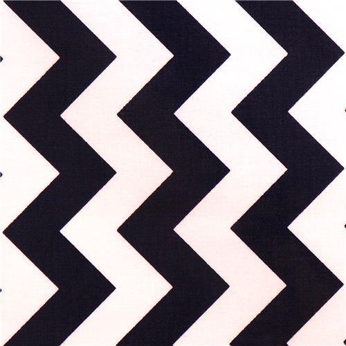 chevron Riley Blake laminate fabric navy white