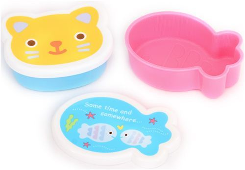 cat and fish bowls Bento cups rice shaper bento box