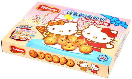 we received these Hello Kitty cookies by a friend