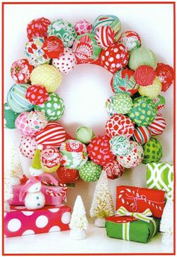 Michael Miller fabric Christmas wreath