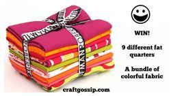 CraftGossip Robert Kaufamn Fabric Bundle Giveaway (ends on Oct 23, 2014)