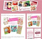 Christmas fabric and stationery package