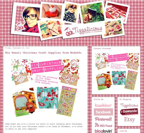 We teamed up with the Blog Tiazzalicious and give away kawaii Christmas stuff