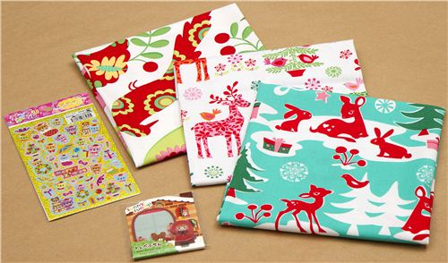 If you're lucky you will win this Christmas fabric and stationery package