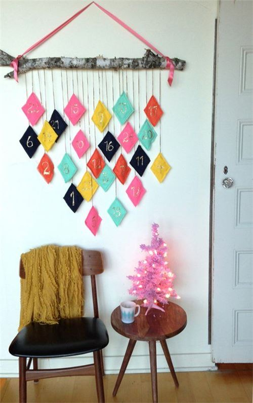 Super cute Advent Calendar design by Melissa from The Sweet Escape, shared by apartmenttherapy.com