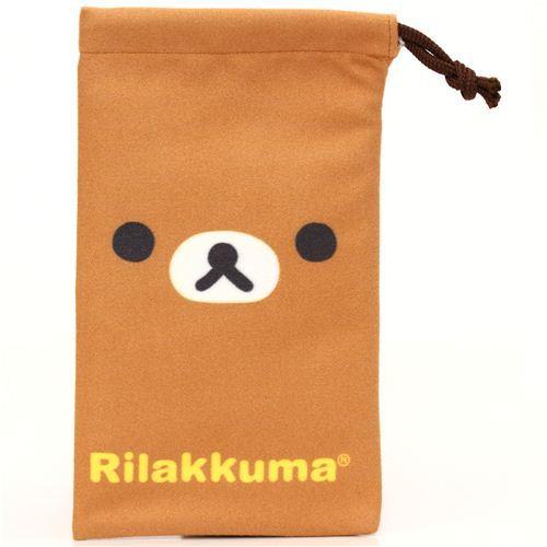 Rilakkuma brown bear microfibre cellphone pouch glasses case