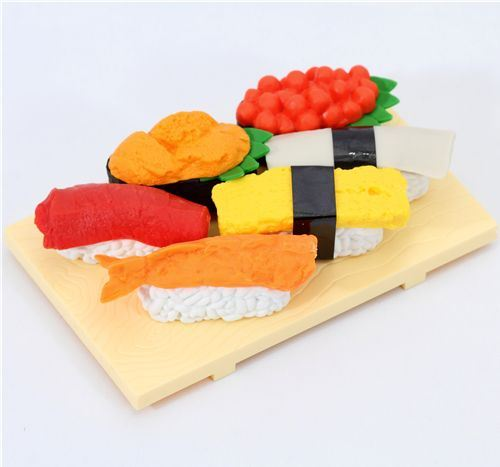 Iwako erasers Sushi Japan 6 pieces set